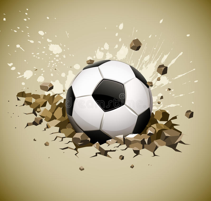 Download Grunge Football Soccer Ball Falling On Ground Stock Image - Image: 19083881
