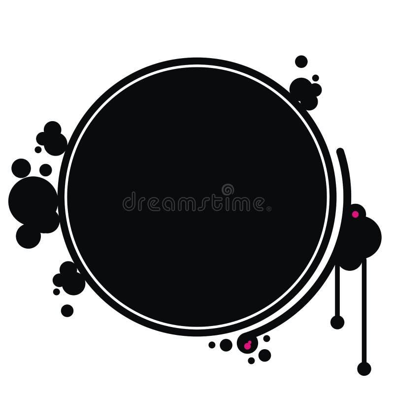 Grunge frame. Illustration on the white vector illustration