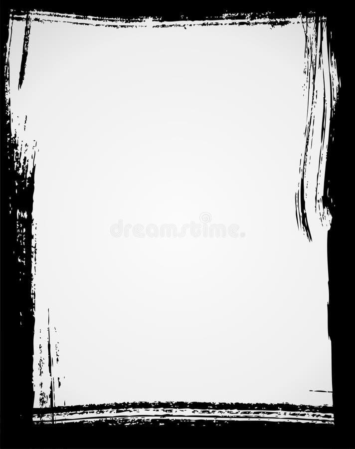 Grunge frame. In black color royalty free illustration