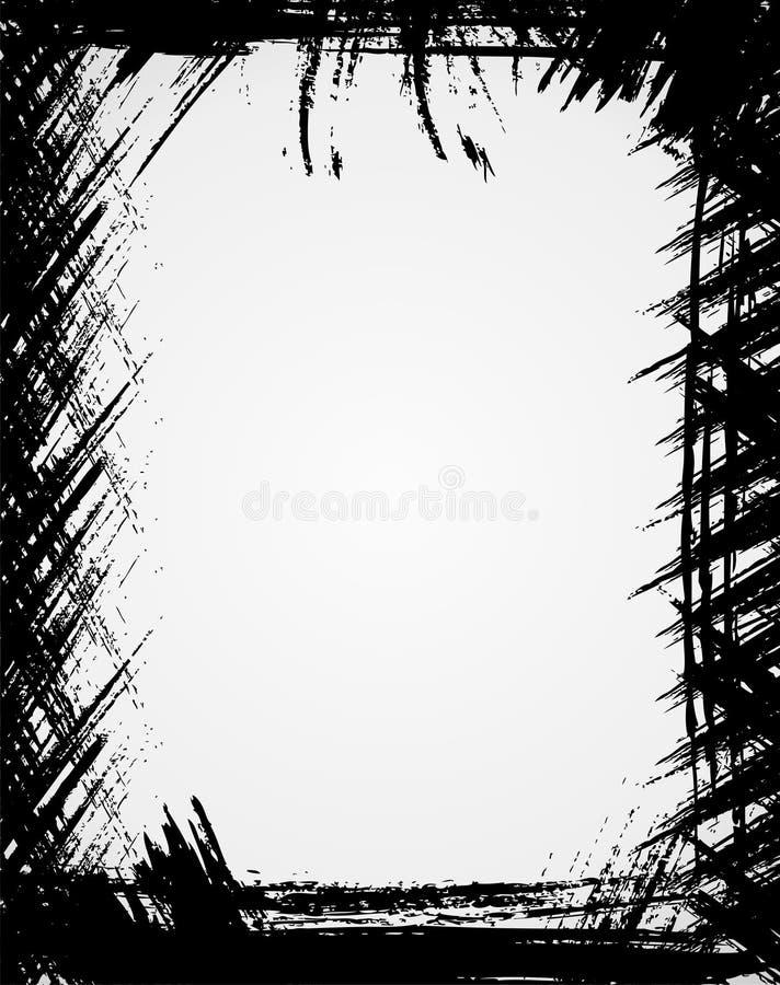 Grunge frame. In black color stock illustration