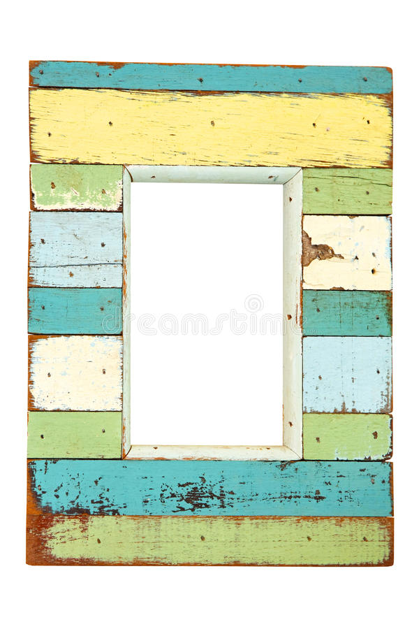 Grunge frame. Grunge wood frame isolated included clipping path stock images