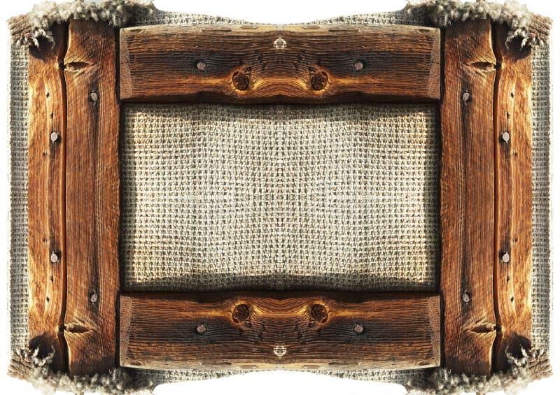 Grunge frame. Isolate on white stock image