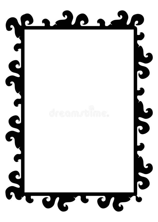 Grunge frame. Illustration of grunge border frame isolated on white background vector illustration