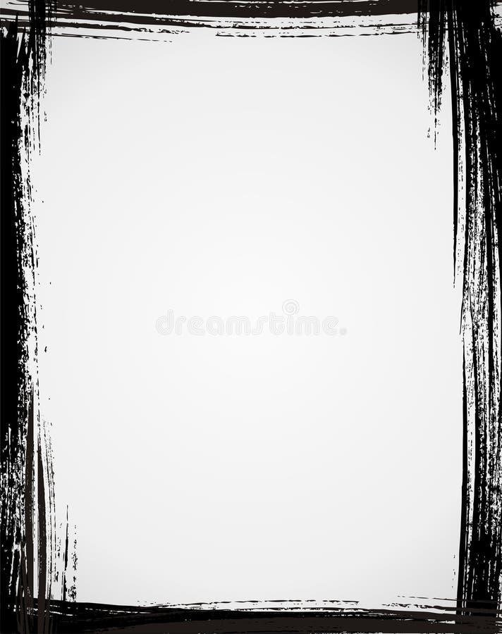 Grunge frame. In black color vector illustration