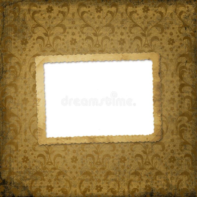 Download Grunge Frame On The Ancient Ornament Background Stock Illustration - Image: 7933488