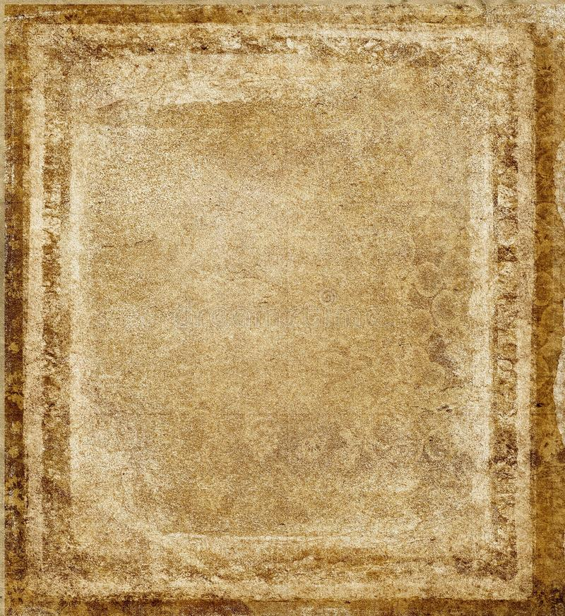 Grunge frame background. Texture grunge paper background with frame royalty free stock image