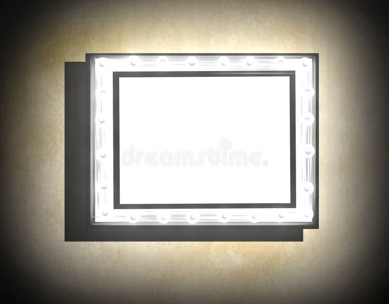Grunge frame on beige old dirty wall vector illustration