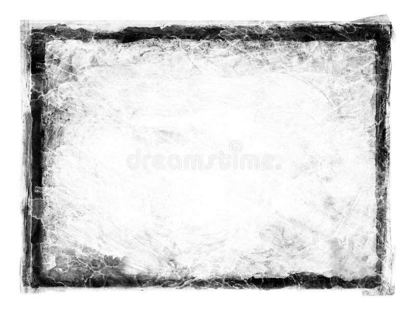 Grunge Frame. Black grunge dirty frame on white stock images
