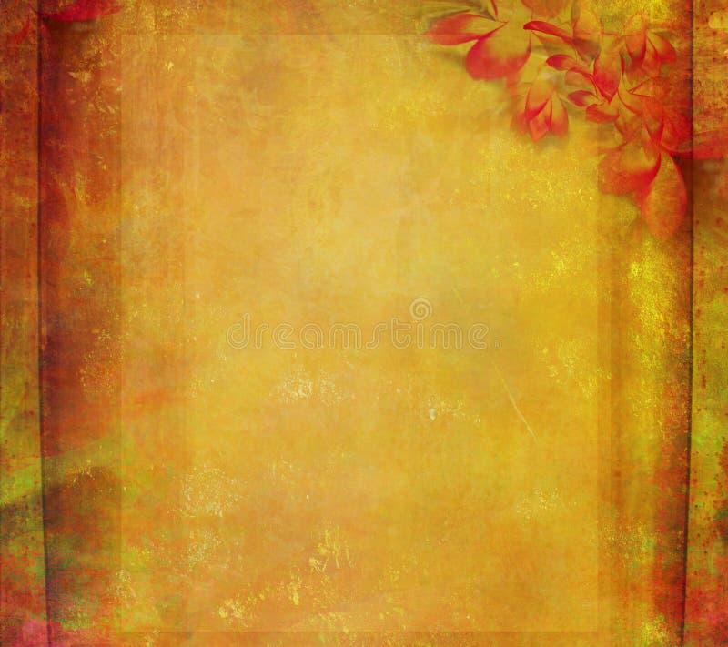 Download Grunge Frame For Congratulation With Flower Stock Illustration - Image: 22264474
