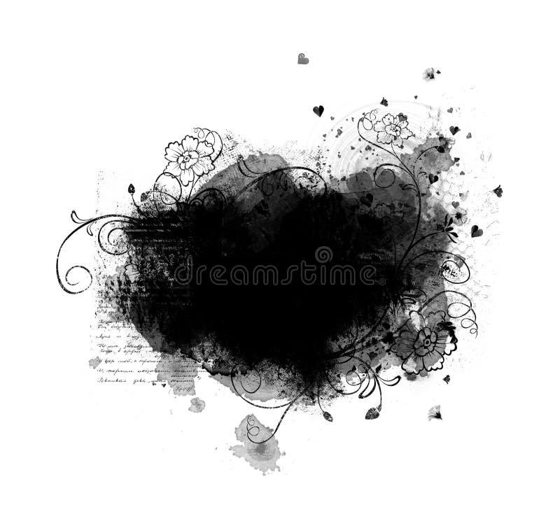 Download Grunge frame with flowers stock illustration. Illustration of grunge - 13014214