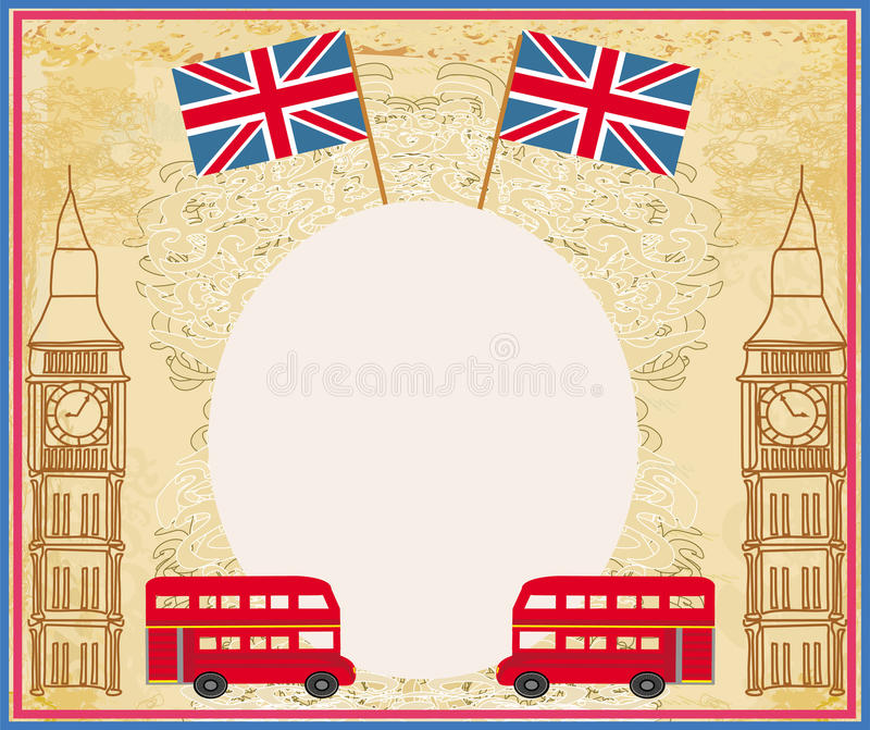 Grunge Frame With Icons Of London Stock Vector - Illustration of ...