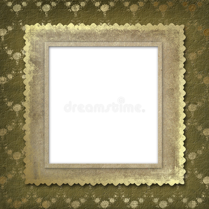 Grunge frame for the invitation vector illustration