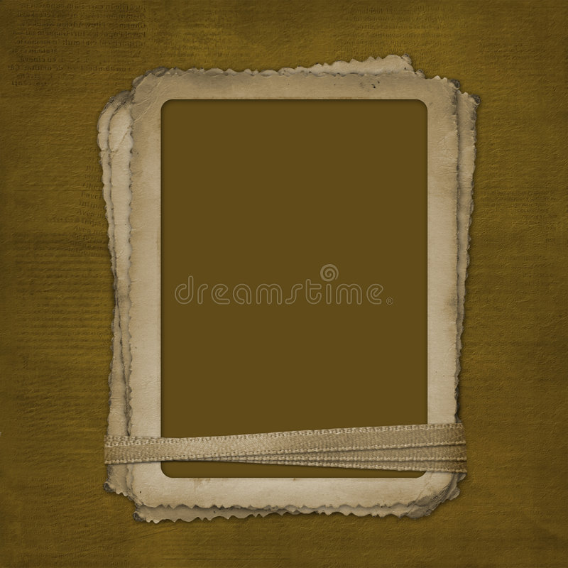 Grunge frame for photo on the abstract background stock illustration