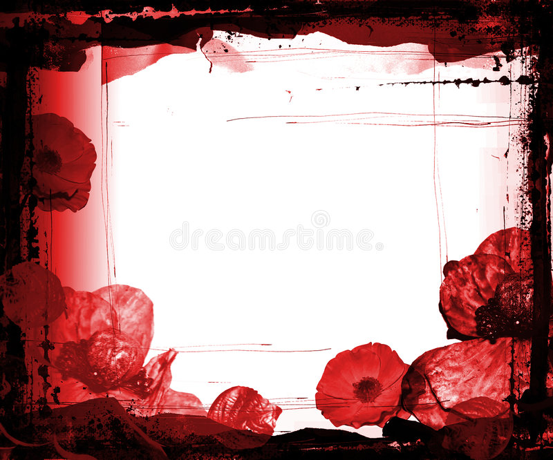 Download Grunge Frame With Purple Flowers Stock Illustration - Illustration of background, rough: 496479