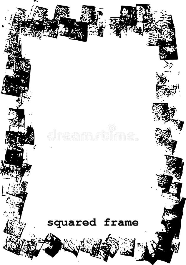 Grunge frame sqaured royalty free stock images