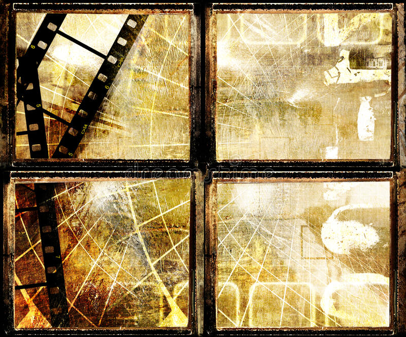 Grunge frames royalty free illustration