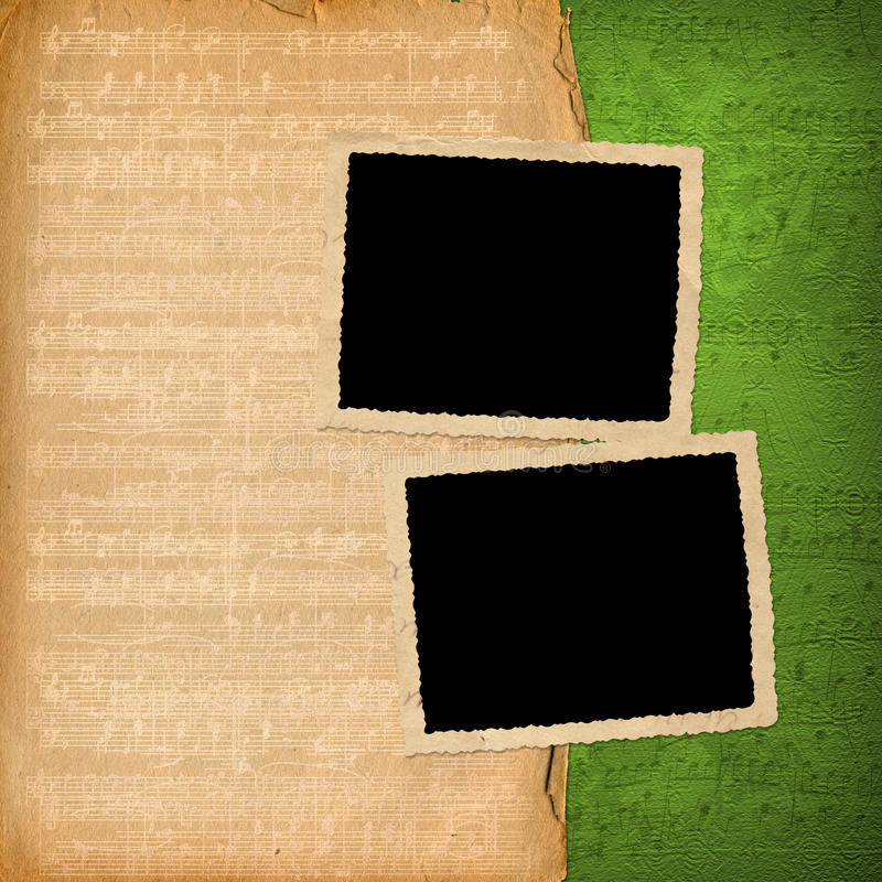 Grunge frames from old papers royalty free illustration