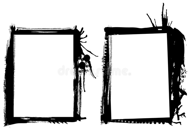 Grunge frames vector royalty free illustration