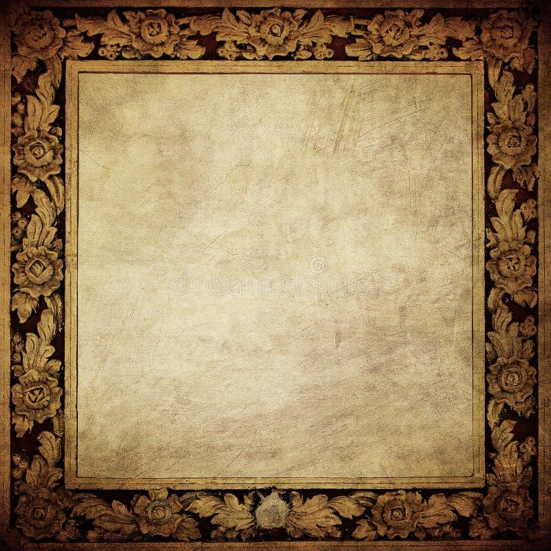 Grunge framework. Old vintage style royalty free illustration