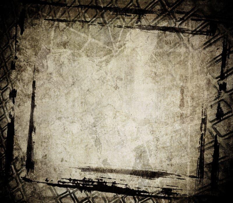 Grunge framework. Grunge textured aged black framework royalty free illustration