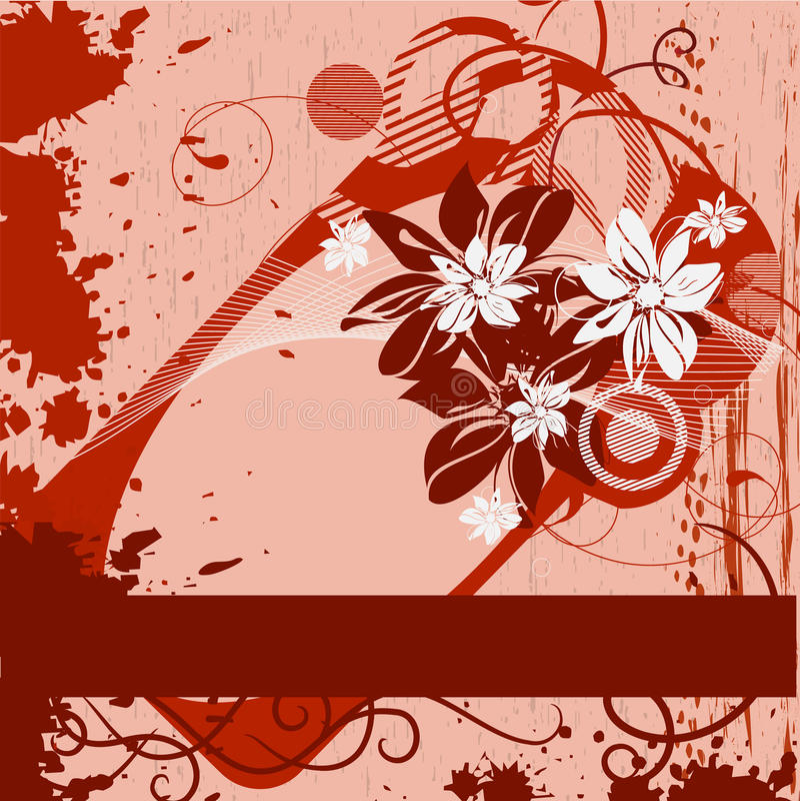 Free Grunge Framework With Flowers Stock Image - 12809731
