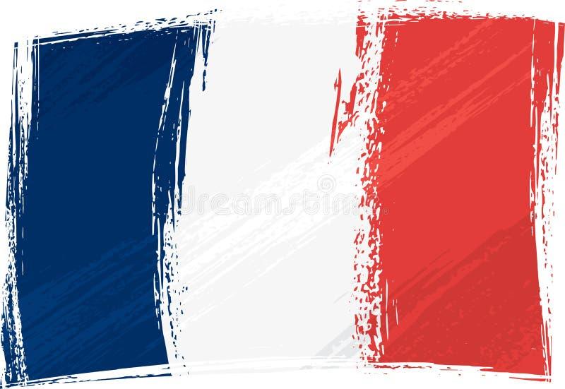 Grunge France flag royalty free illustration