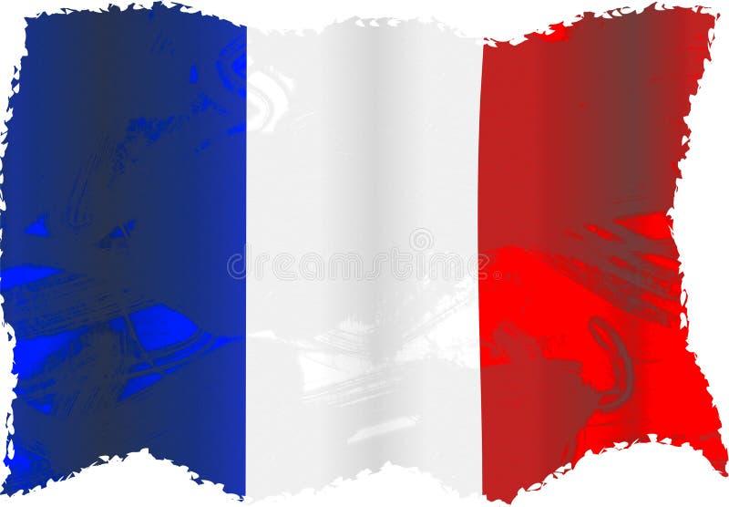 Grunge Frankrijk stock illustratie