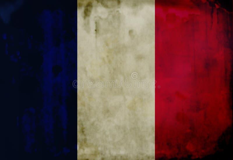 Grunge Franzosemarkierungsfahne stockfotografie