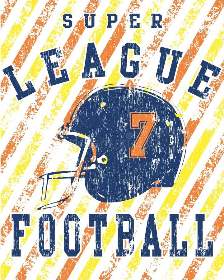 Grunge Fußball-Liga-Plakat lizenzfreie abbildung