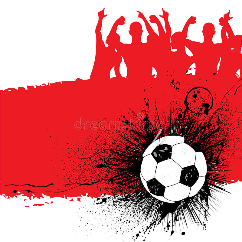 Grunge Fußballhintergrund vektor abbildung
