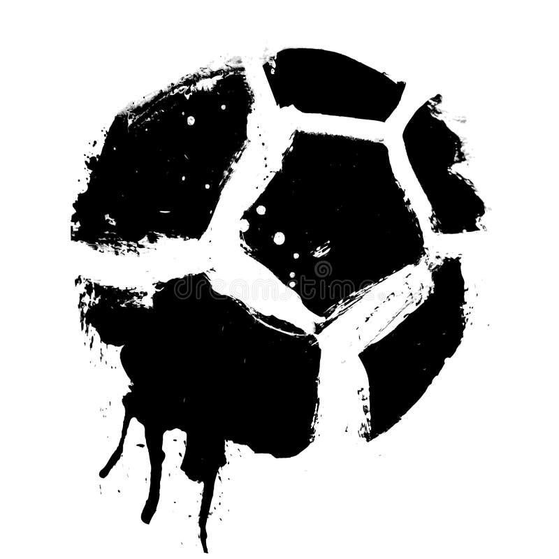 Grunge Fußballkugelvektor vektor abbildung