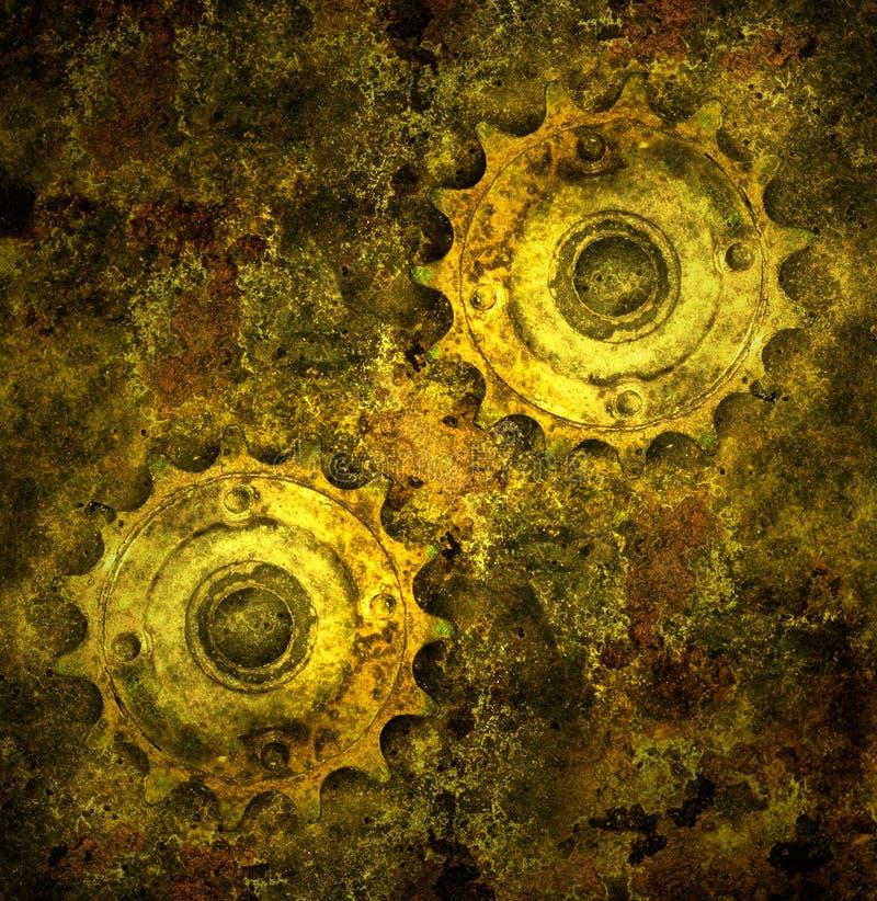Grunge gears stock photos