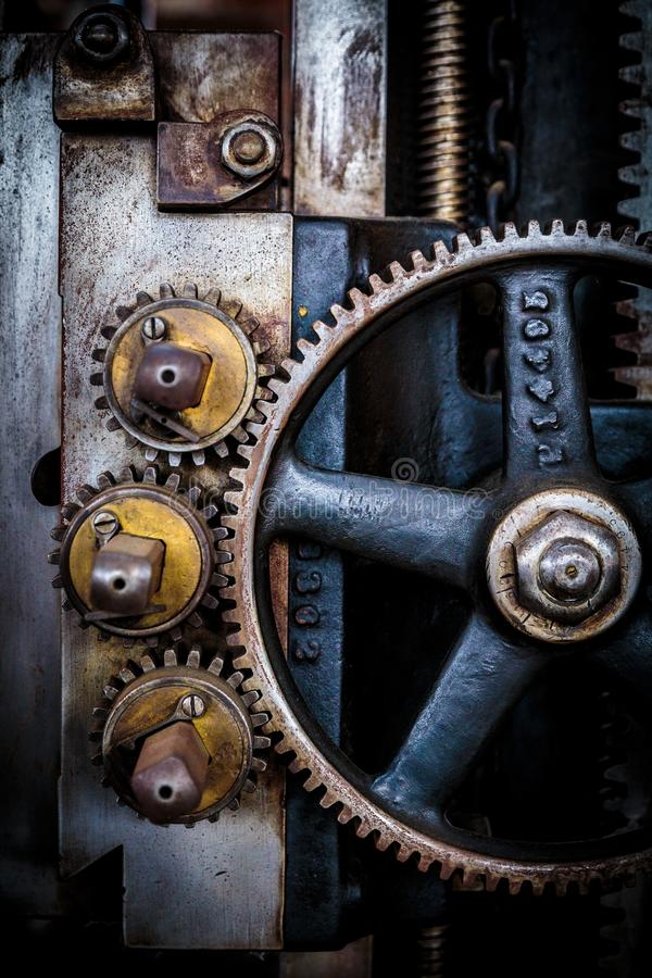 Free Grunge Gears And Wheel On Assembly Line Stock Image - 161627611