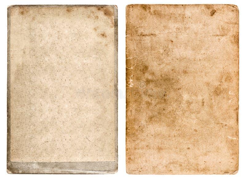 Grunge gebruikte document achtergrond Uitstekend fotokader stock fotografie