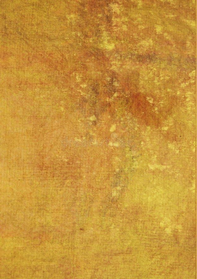grunge geel-bruin bevlekte oppervlakte stock illustratie