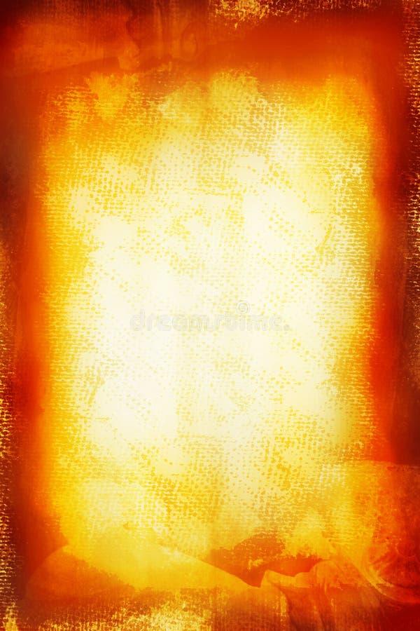 Grunge gelbes gemaltes Segeltuch lizenzfreie abbildung