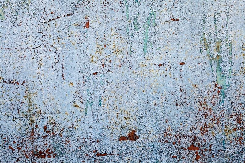 Grunge geroeste metaaltextuur, blauwe geoxydeerde metaalachtergrond Het oude paneel van het metaalijzer Blauwe metaal roestige op royalty-vrije stock foto