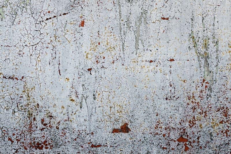 Grunge geroeste metaaltextuur, grijze metaalachtergrond Het oude paneel van het metaalijzer Grijs Desktopbehang royalty-vrije stock foto