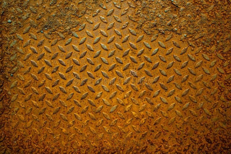 Grunge geroeste metaaltextuur Roestige corrosie en geoxydeerd backgr stock fotografie