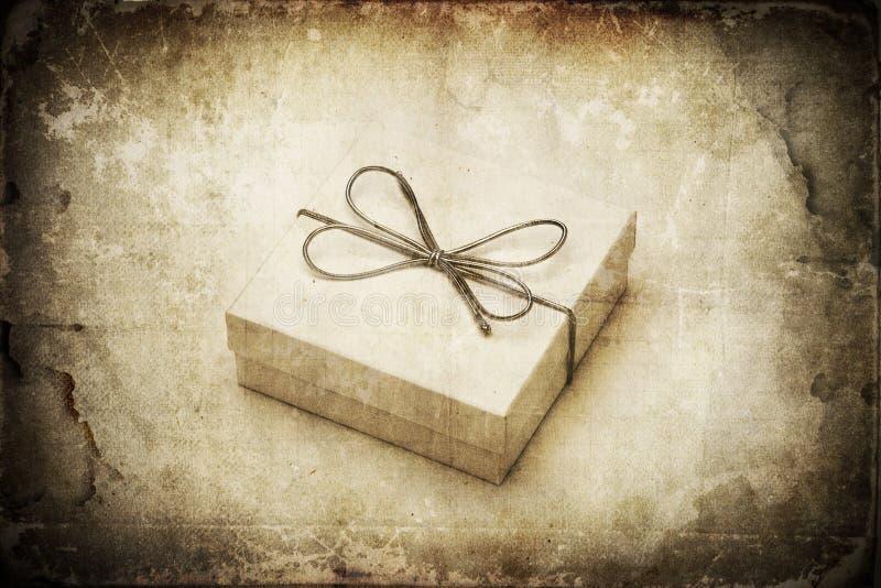 Grunge Geschenk stockbild