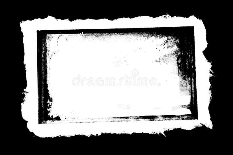 Grunge gescheurd randendocument met gebrande grens royalty-vrije illustratie