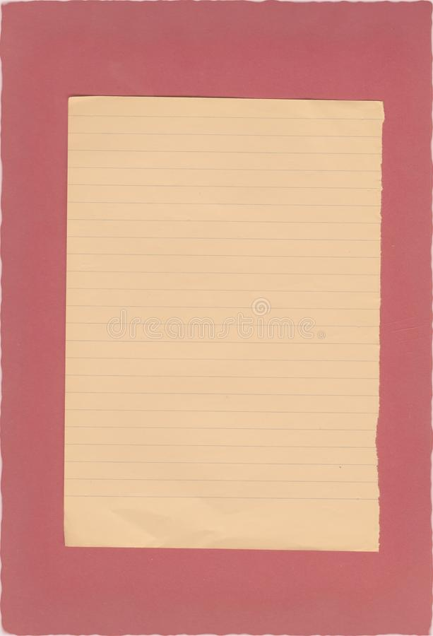 Grunge Gevoerd Document royalty-vrije stock foto