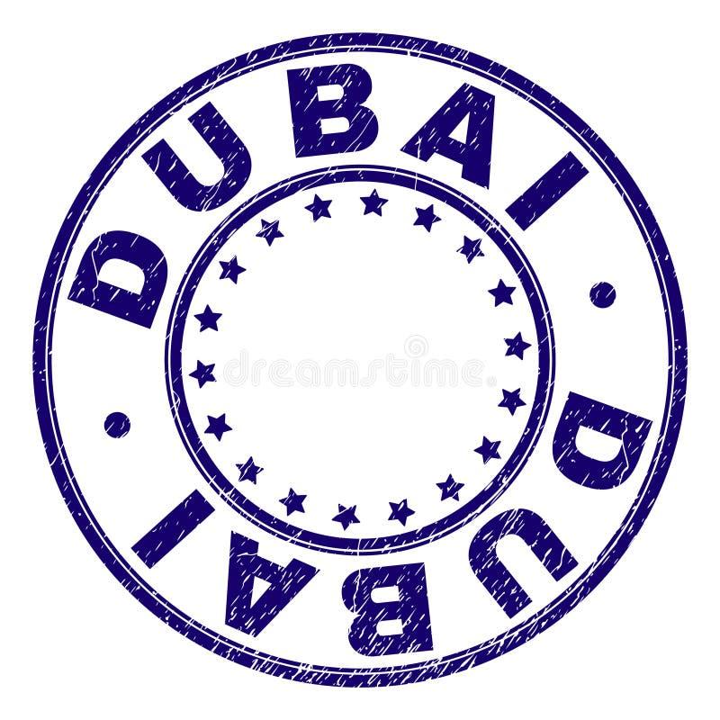 Grunge Geweven DOUBAI om Zegelverbinding vector illustratie