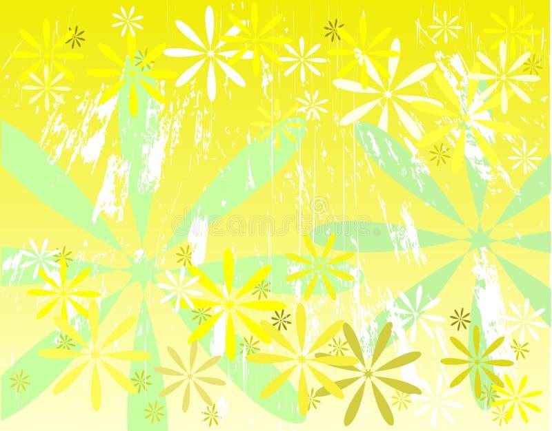 Grunge giallo illustrazione vettoriale
