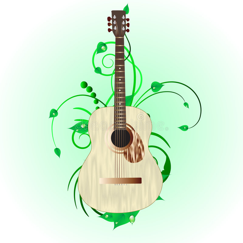 grunge gitara ilustracja wektor