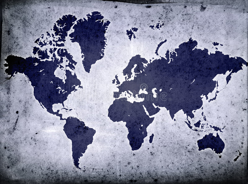Grunge Globe stock illustration