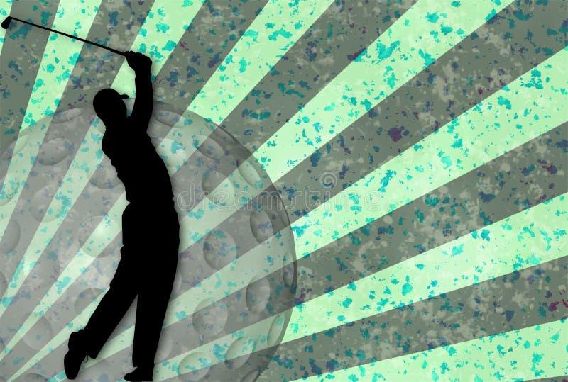 Grunge Golf vector illustration