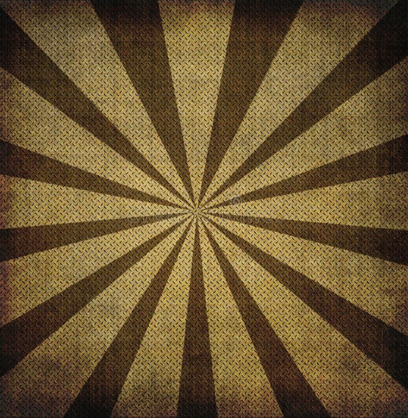 Grunge golfmetaal met zonnestraal vector illustratie