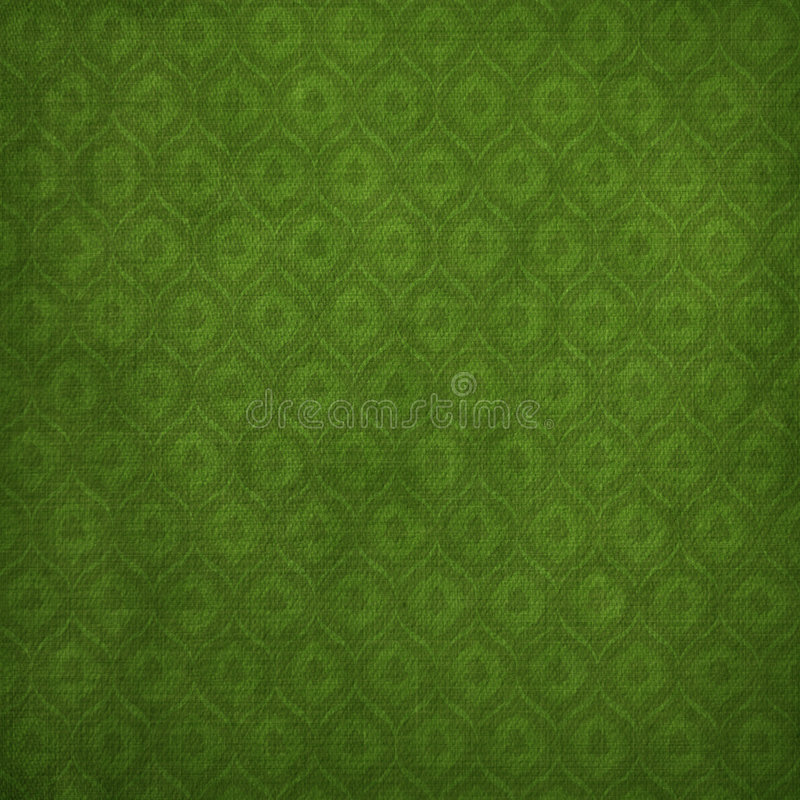 Grunge grüner Hintergrund mit alter Verzierung lizenzfreie abbildung