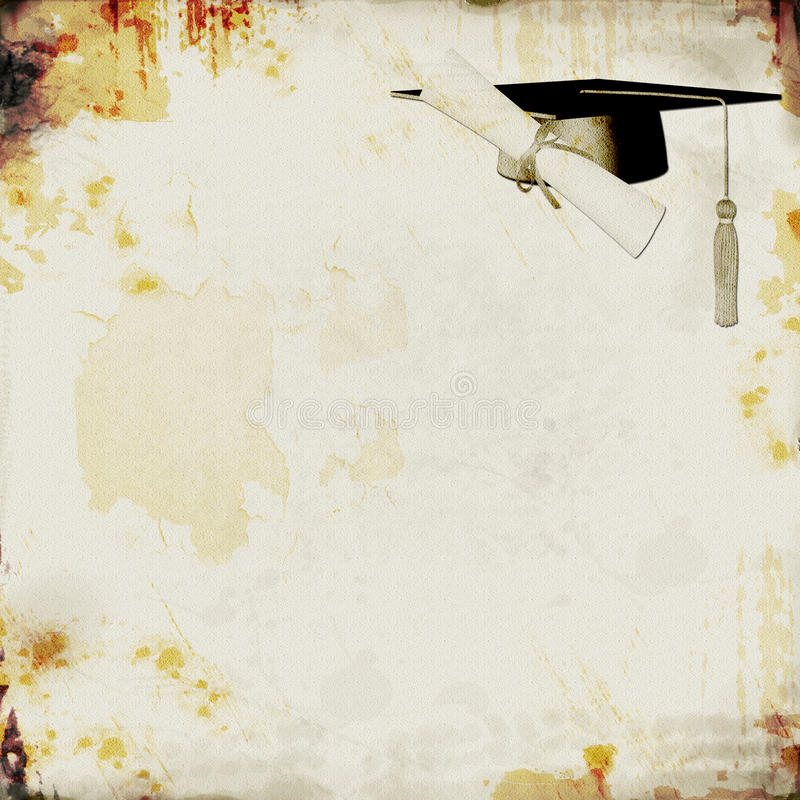 Grunge Graduation Background royalty free illustration